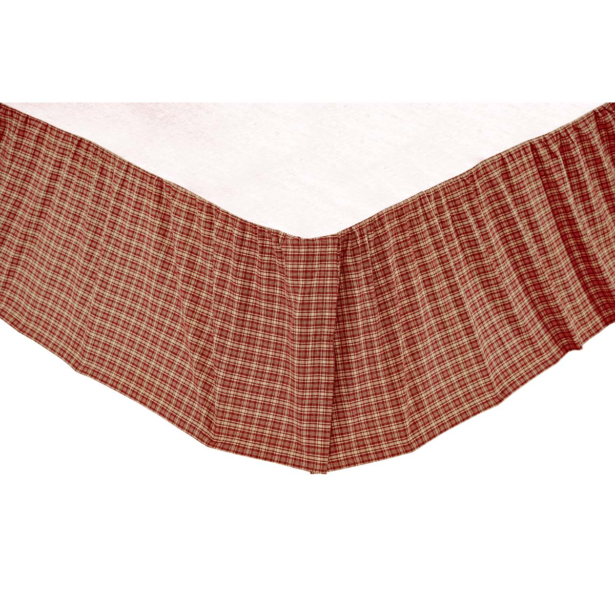 Burgundy Red Americana Bedding Independence Cotton Split
