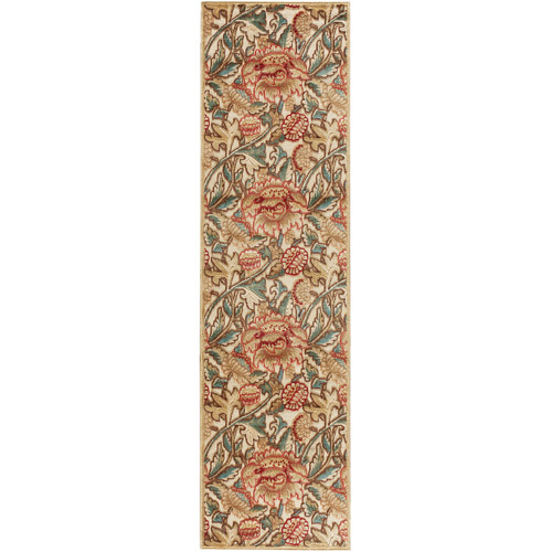 """Nourison Graphic Illusions Classic Flowers Runner Rug 2'3"""" x 8'"""