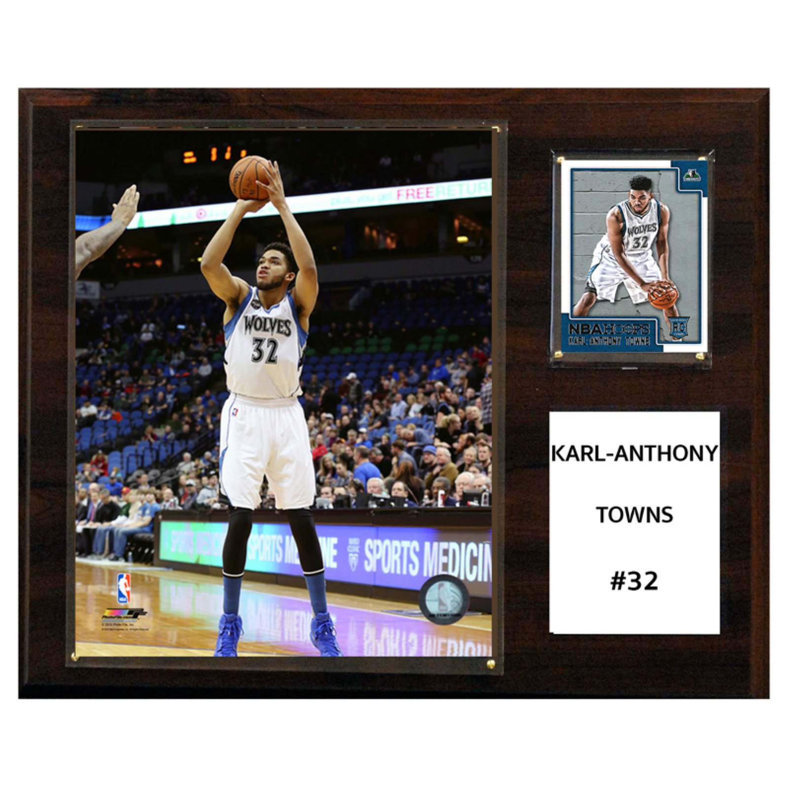 C&I Collectables NBA 12x15 Karl-Anthony Towns Minnesota Timberwolves Player Plaque