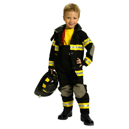Aeromax Jr. Fire Fighter Black Suit](Aeromax Firefighter Costume)