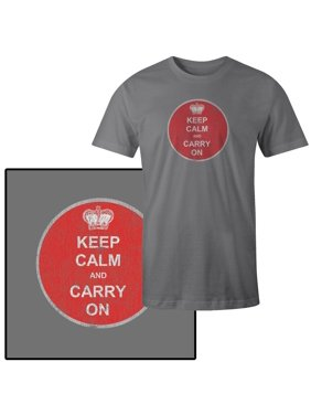 ad73f7597 Product Image Men's Keep Calm and Carry On British WWII Poster T-Shirt
