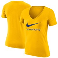 Golden State Warriors Nike Women's Swoosh V-Neck T-Shirt - Gold