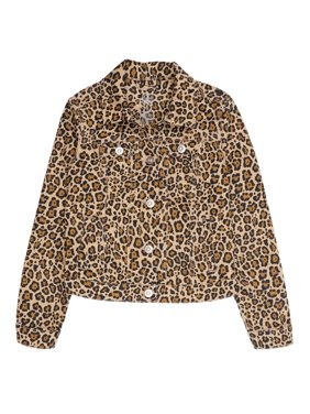 Wonder Nation Animal Print Denim Jacket (Little Girls, Big Girls & Plus)