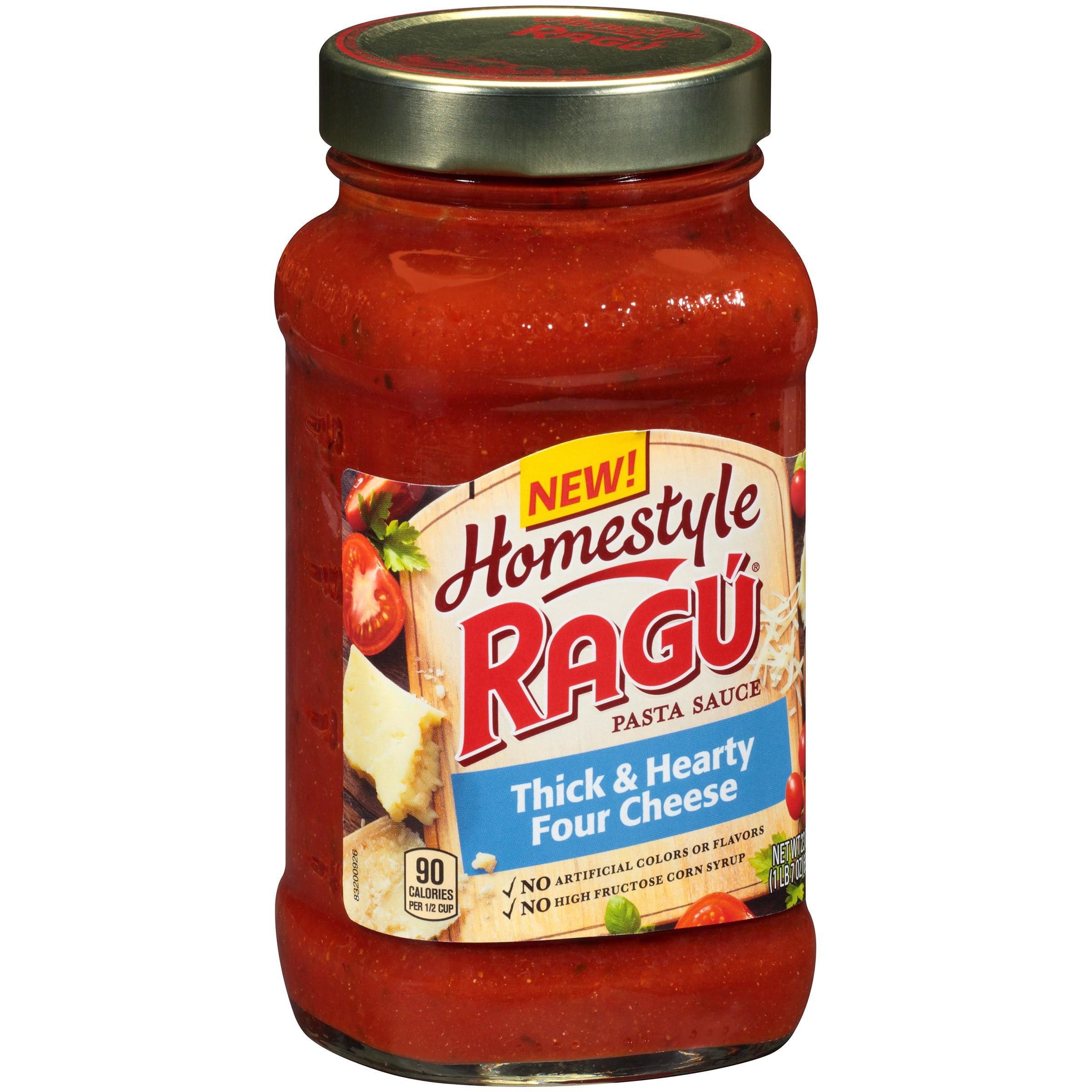 Homestyle Ragu Pasta Sauce Thick & Hearty Four Cheese, 23.0 OZ by Mizkan Americas, Inc.