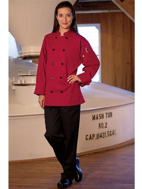 0405-1906 Moroccan Chef Coat in Red - 2XLarge