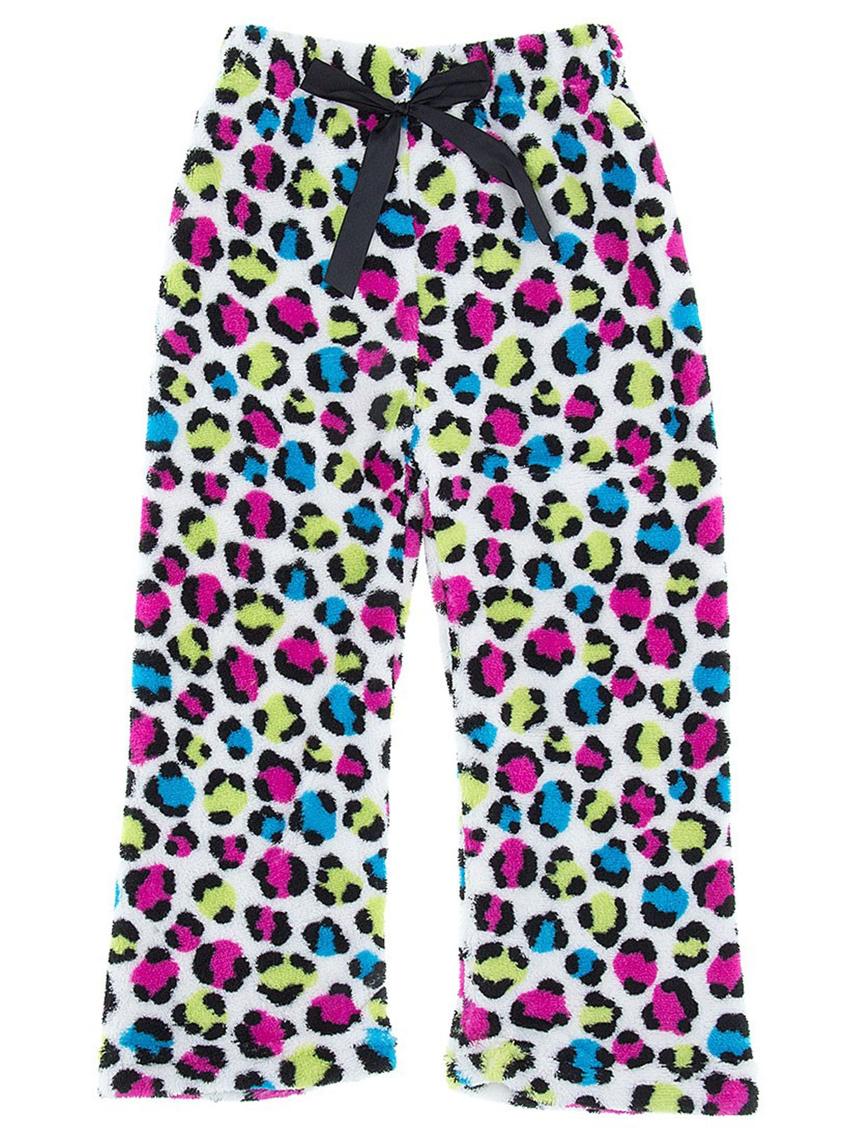 Sweet Sassy Girls Colorful Leopard Fleece Pajama Pants