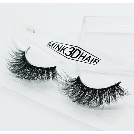 Peralng 3D Mink Fur False Fake Eyelashes Hand-made individual black False Lashes extensions 1 Pair Package - Feather Fake Eyelashes