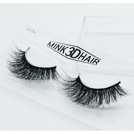Peralng 3D Mink Fur False Fake Eyelashes Hand-made individual black False Lashes extensions 1 Pair Package](Halloween Fake Eyelashes)