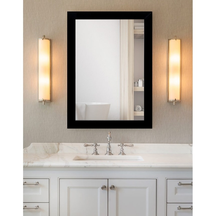 Delicieux Framecrafters Inc Bathroom Framed Mirror  Matte Black