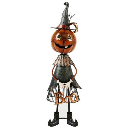 Halloween Jackolantern Witch Metal Boo Décor (Escaped Mental Patient Halloween)