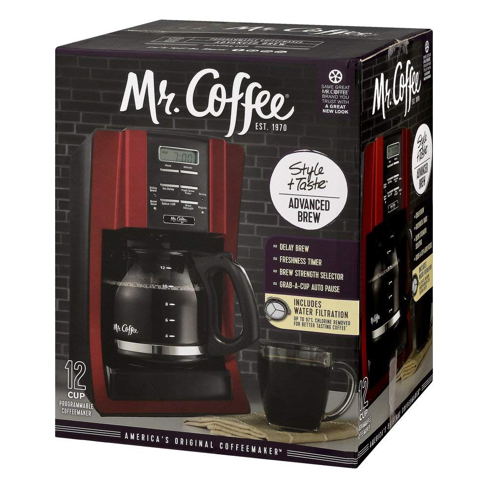 Mr. Coffee Brewing Coffee Maker Style + Taste 12-Cup Advanced Brew Programmable