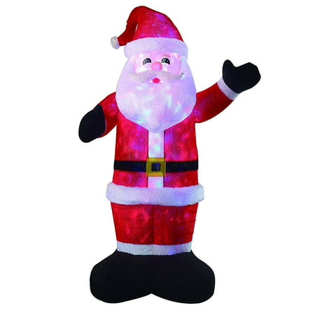 8ft large airblown santa inflatable dcor christmas inflatables outdoor holiday decorations blow up led - Large Christmas Yard Decorations