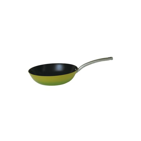 2 Tone Pan - Fancy Cook Light Enamel Cast Iron Nonstick Fry Pan - 12 in. - Two Tone Green