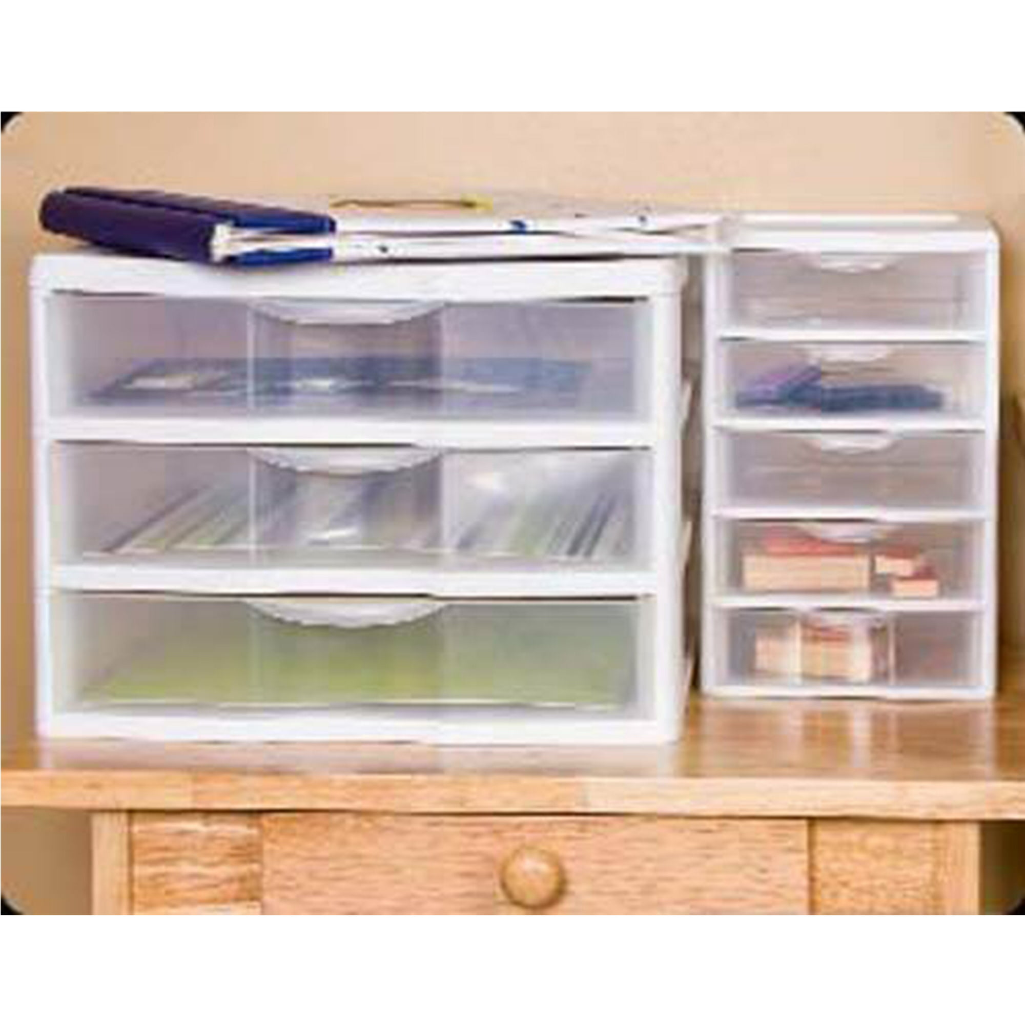 Sterilite Clearview Small Plastic 5 Drawer Desktop Storage System 4 Pack Walmart Canada