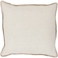 """Solid Border EL007-2020 Square 20"""" x 20"""" Pillow Cover Only"""