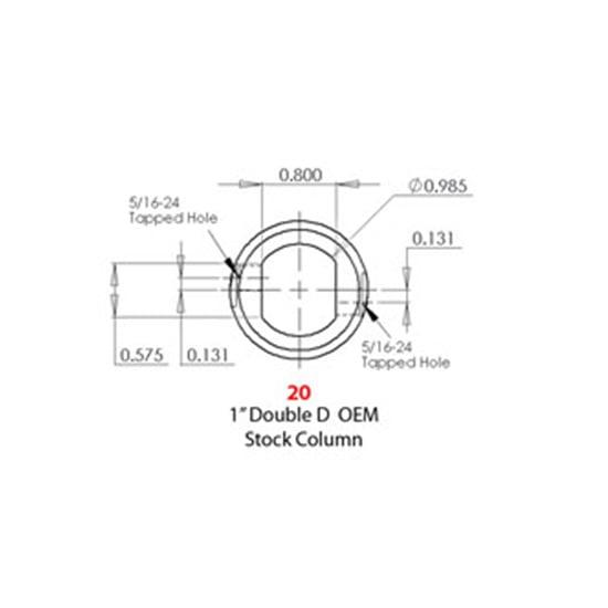 3//4 In 36-Spline to 3//4 DD GM Manual//Mustang II Sweet Mfg U-Joint