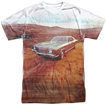 Chevrolet Automobiles Chevy Vintage Monte Carlo Photo Adult Front Print T Shirt