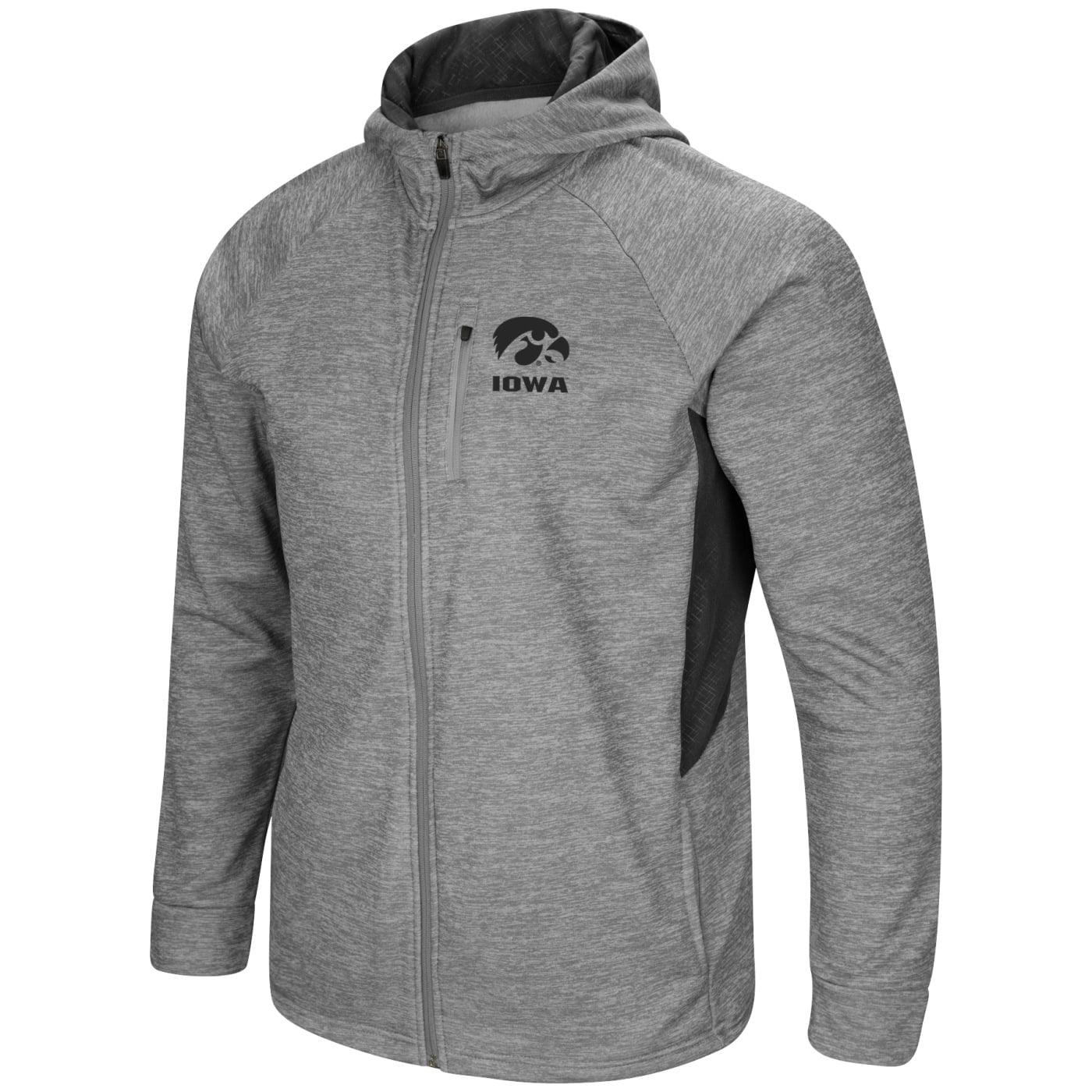 "Iowa Hawkeyes NCAA ""Swing Pass"" Men's Full Zip Hooded Jacket"