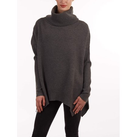 Women's Genevieve Cowl Neck Sweater (Solid Cowl Neck Sweater)
