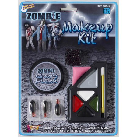 Easy To Do Halloween Zombie Makeup (Zombie Makeup Kit)