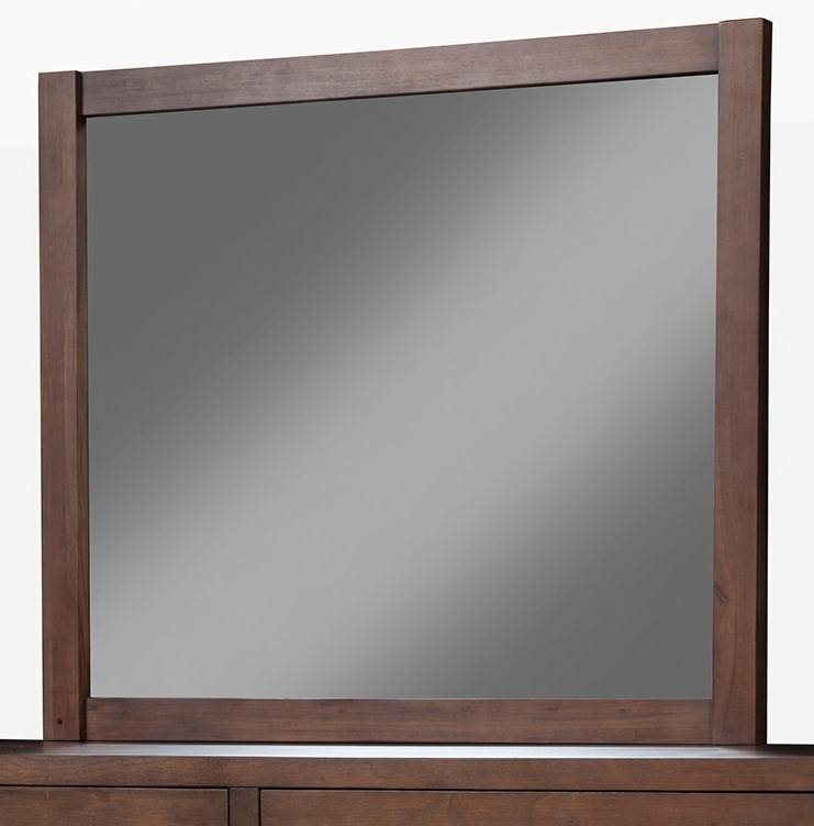 Mirror in Pecan Finish by Alpine Furniture