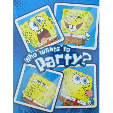 SpongeBob SquarePants 'Selfies' Party Invites and Thank You Card Pack (Spongebob Thank You Cards)