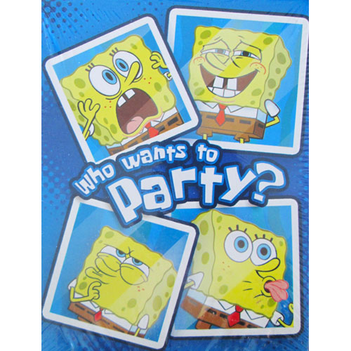 SpongeBob SquarePants 'Selfies' Invitations w/ Envelopes and Thank You Postcards (8ct)