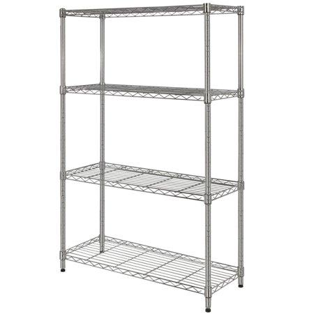 - Homegear 4-Shelf Shelving Unit Chrome