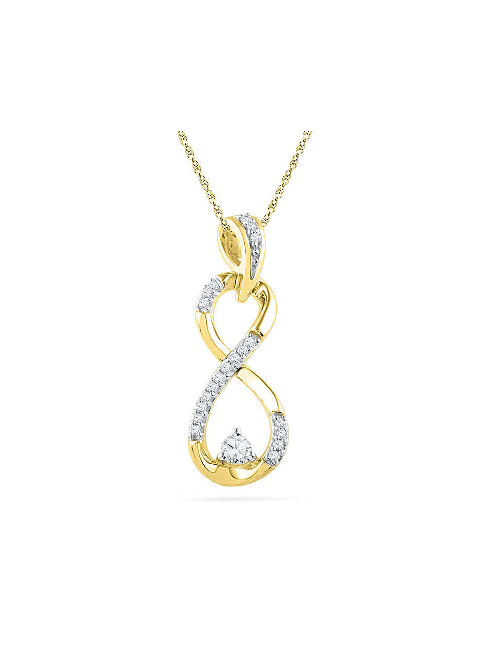 ALARRI 2.3 Carat 14K Solid White Gold All I Know Pink Topaz Diamond Necklace with 18 Inch Chain Length