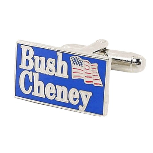 PD-BUSH-SL George W Bush 2004 Election Cufflinks