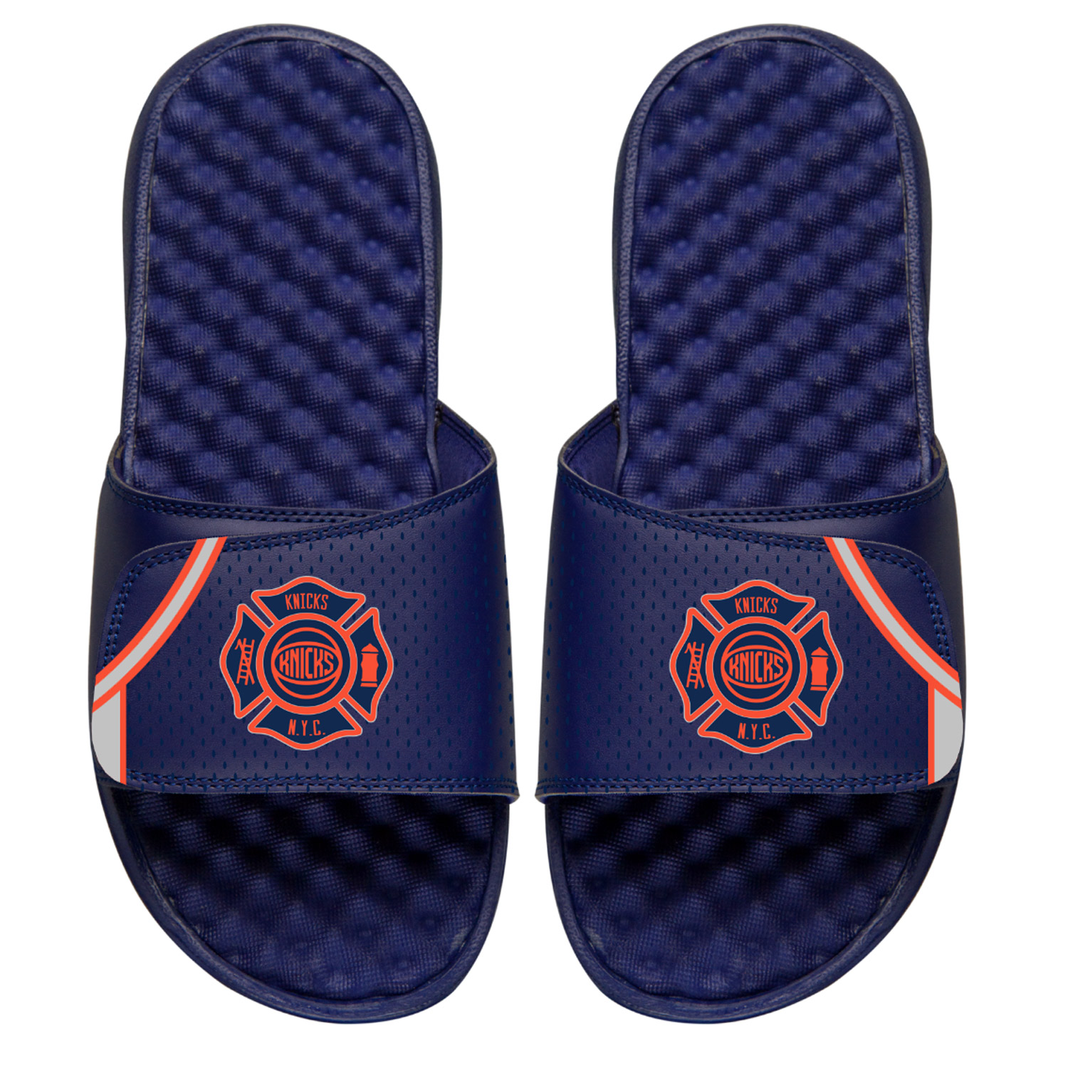 sale retailer bf4f9 d19c4 New York Knicks ISlide Youth City Edition Slide Sandals - Navy