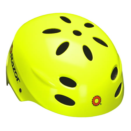 Razor V17 Youth, Multi-Sport Helmet, Neon Yellow, For Ages (Youth Riding Helmet)