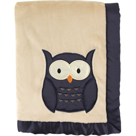 Hudson Baby Boy and Girl Plush Blanket with Satin Back