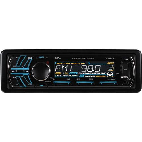 Boss Audio Single-DIN 650UA CD/MP3 AM/FM Receiver USB/SD Memory Card