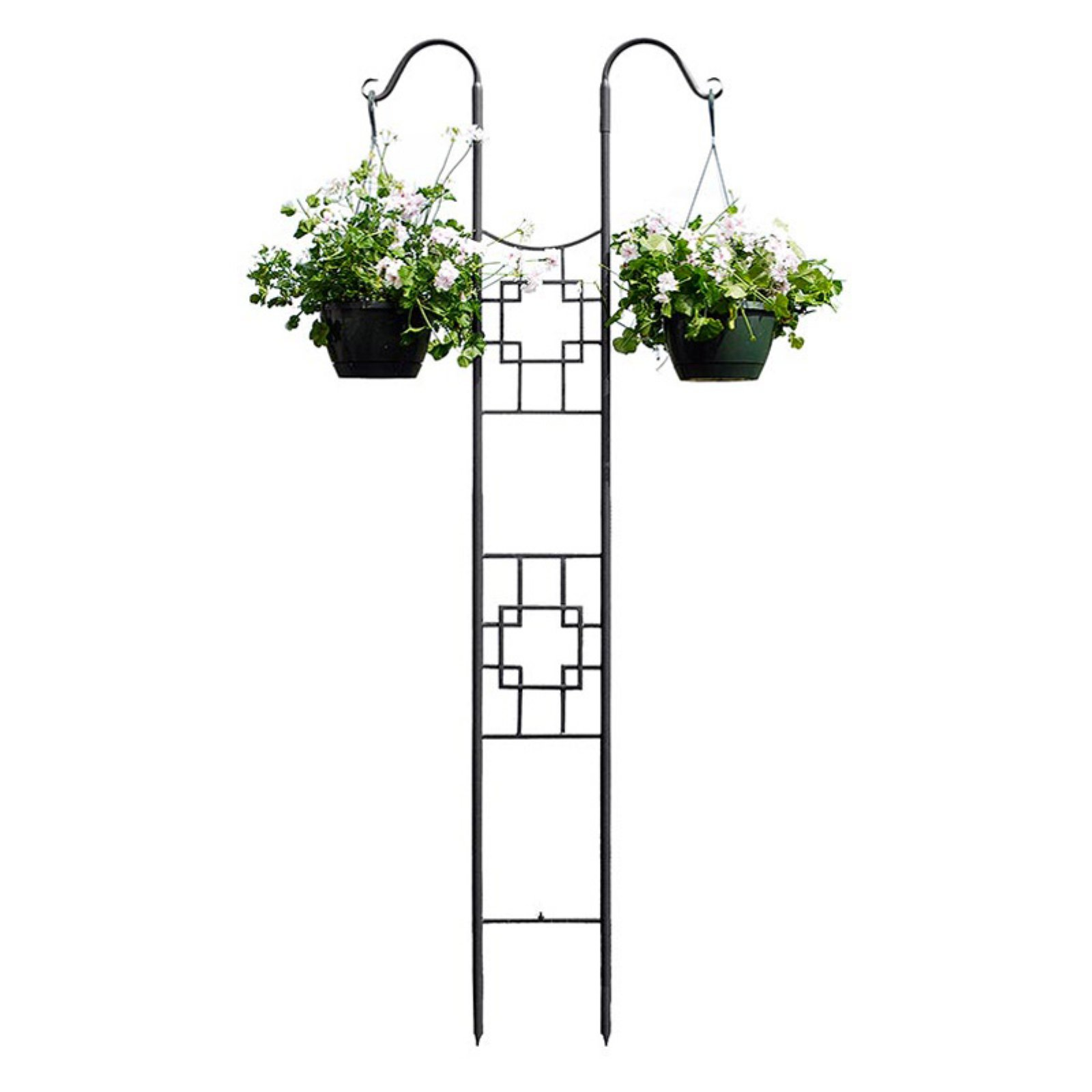 Achla Designs Square-on-Squares Double Pole Trellis by Minuteman International