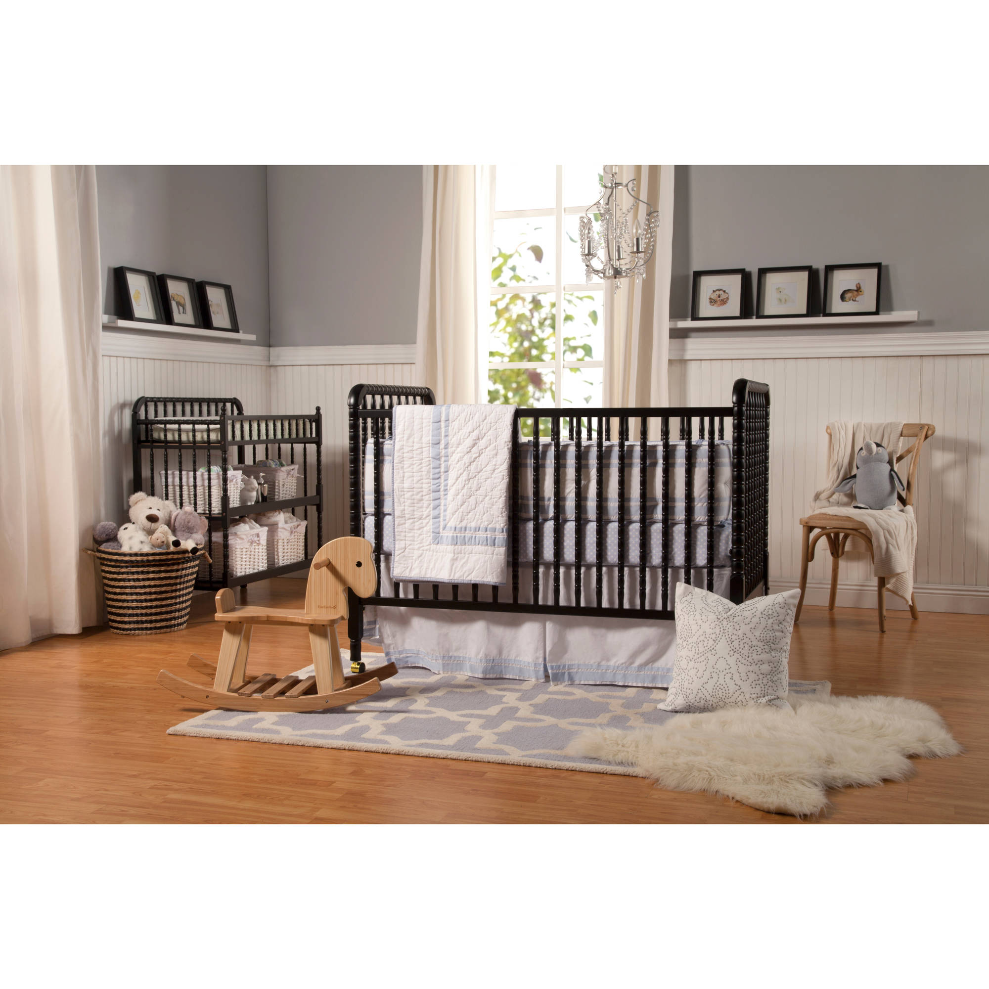 86 oak jenny lind crib