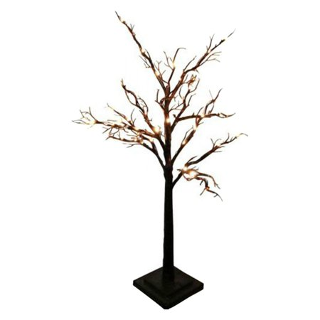 24   Battery Operated Table Tree  Black  Tree With Bark Effect W W Led  White Box With Colored Lable 3Xaa Battery Power   Plastic Base  Product Size  15 74X 23 22 X 15 74