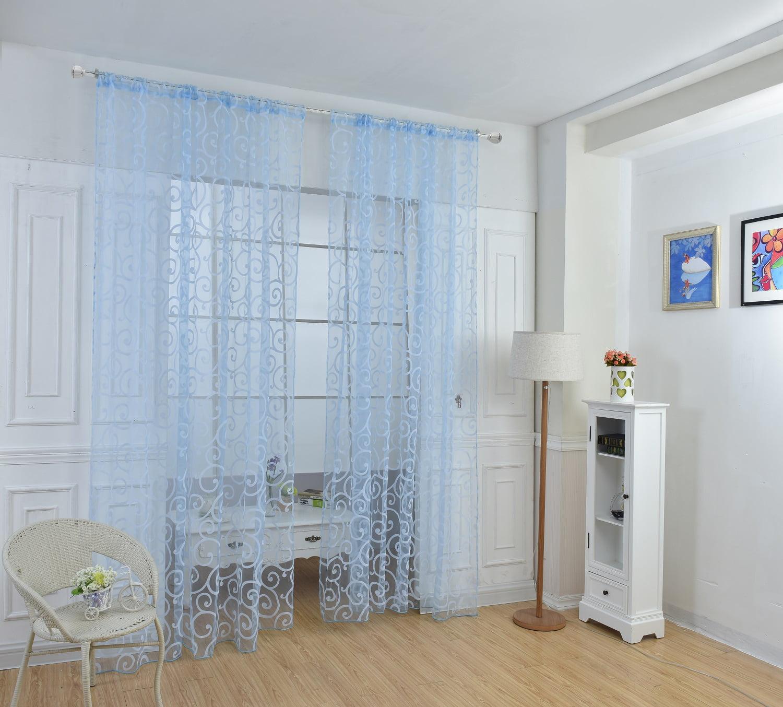 Lanlan 1X2.7M Fashion Home Elegant Decorative Sheer Curtain, Panels, Window Treatments or Drape 1PCS,Sky blue by