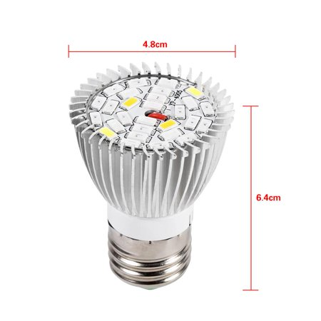 Qiilu Usine Led élèvent l'ampoule, Usine Led élèvent la lumière, Spectre complet E27 Led élèvent l'ampoule de la lampe de croissance pour la fleur de plante hydroponique bricolage - image 5 de 8
