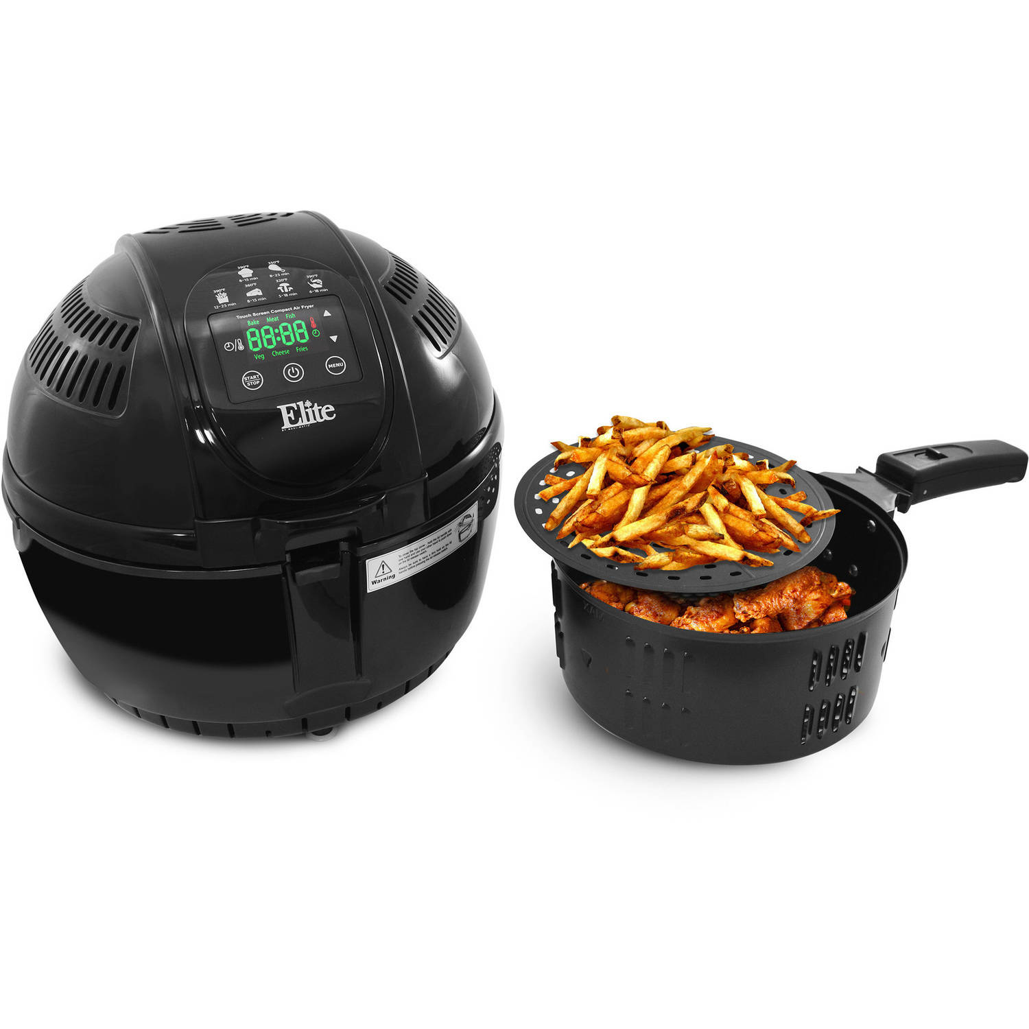 Elite Platinum 3.5-Quart Digital Air Fryer Black