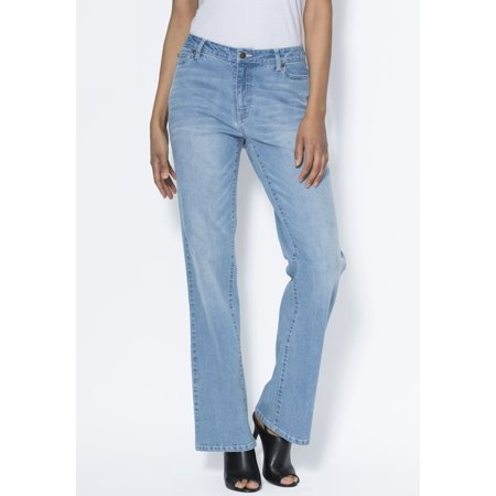 70d8edb3068 Roamans – Plus Size Tall 5-pocket Bootcut Jeans With Invisible Stretch By Denim  24 7 – Walmart.com