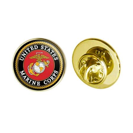 USMC Lapel Pin United States Marine Corps Locking Clutch Hat Pin Patriotic Gift