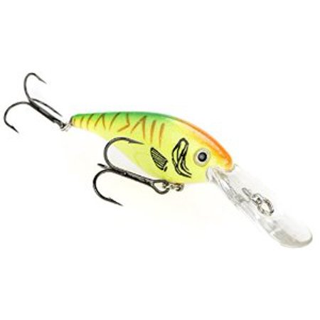 Strike King Walleye Elite Lucky Shad Bait, Hot Tiger, 3-Inch Multi-Colored Fishing Hot Spots Elite