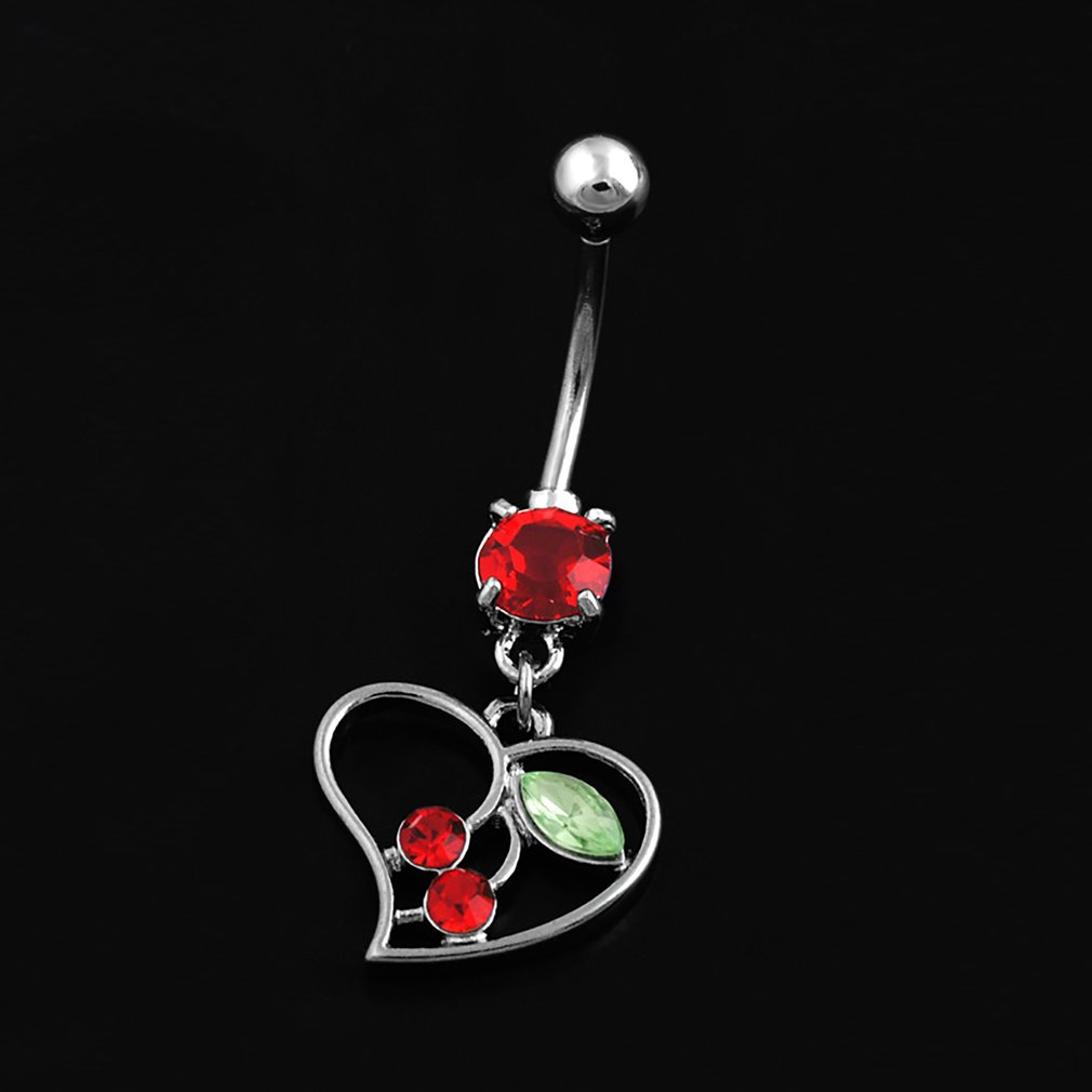 Details about  /Women Crystal Belly Button Ring Umbilical Nails Navel Body Piercing Lady Jewelry