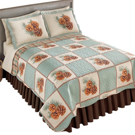 Twin Pine Auto >> Pinecone Patch Woodland Bedroom Reverisble Quilt, Full/Queen, Multi - Walmart.com