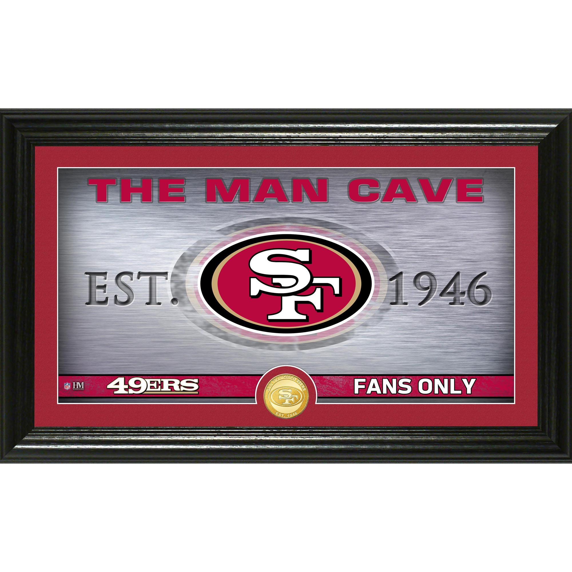 "San Francisco 49ers Highland Mint 12"" x 20"" Man Cave Photo Mint - No Size"