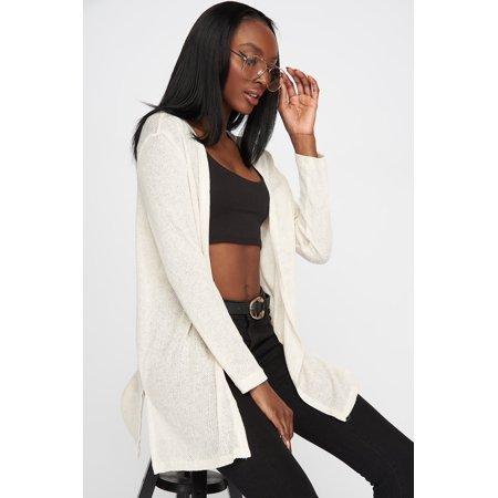 eb87299e7e6b5d Urban Planet Women's Knit Open-Front Basic Cardigan - image 13 of ...