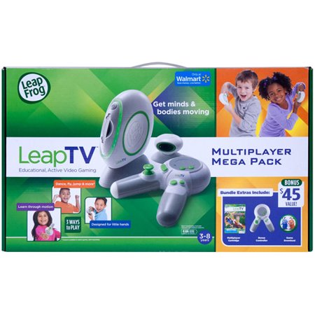 LeapFrog LeapTV Educational Active Video Gaming System Multiplayer Mega Bundle