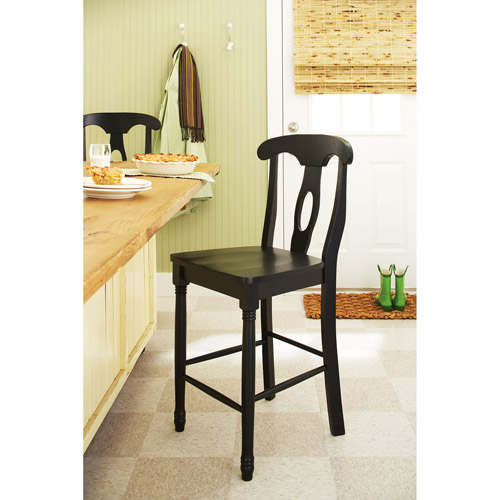 Better Homes and Gardens European Counter Stool 24'', Black Finish