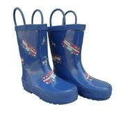 Blue Fire Trucks Toddler Boys Rain Boots 5-10
